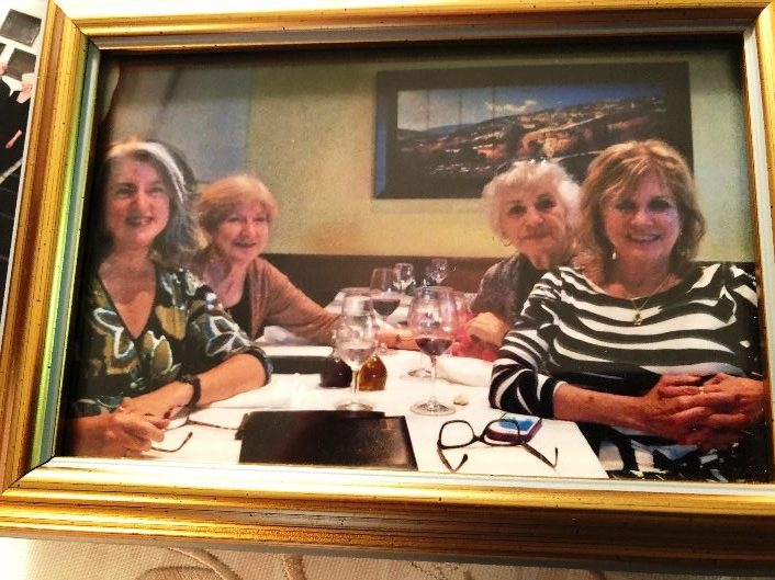 <center>Anita at luncheon (second from right)</center>