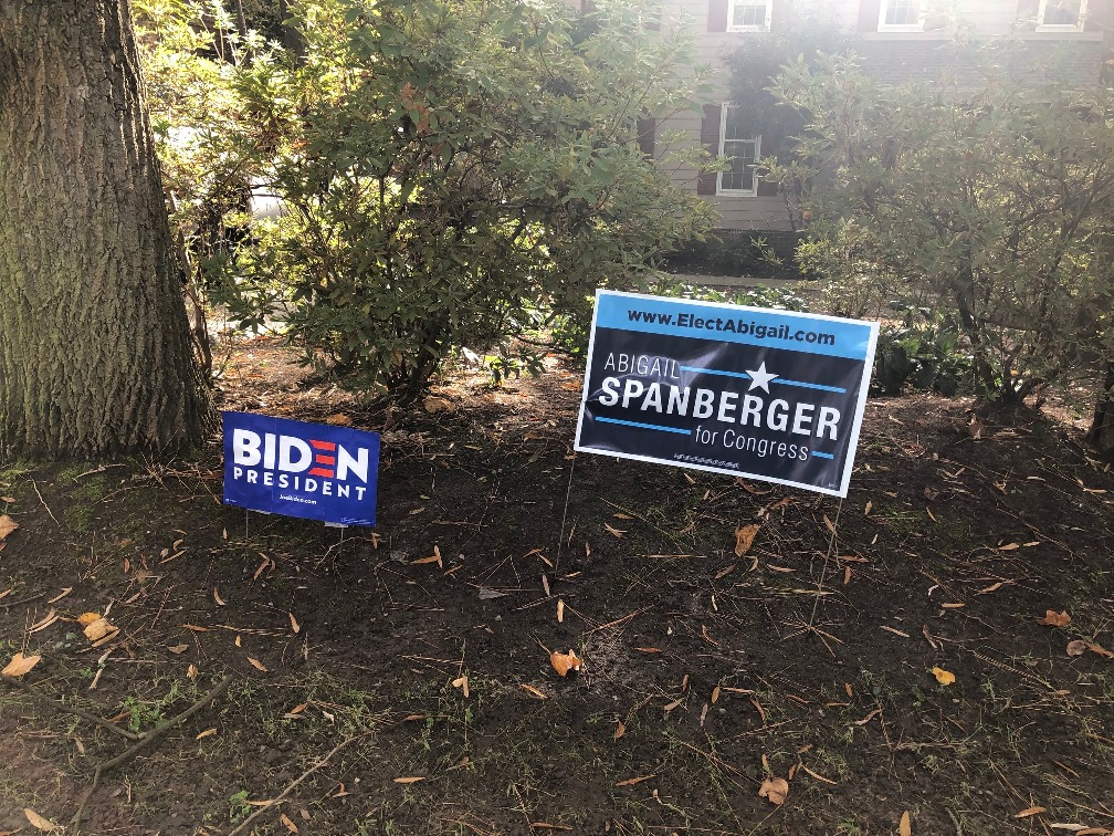 <center>Neighborhood campaign signs</center>