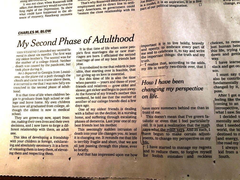 """<center>Chrrles Blow's """"My Second Phase of Adulthood""""</center>"""